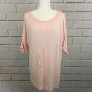 Apt.9 Light Pink Pullover Knit Sweater Top
